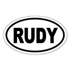 Rudy '08 Oval Decal