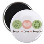 Recycling Peace Love Recycle Magnet