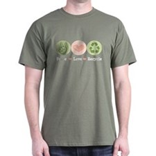 Recycling Peace Love Recycle T-Shirt