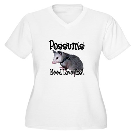 Possums Need Love Women's Plus Size V-Neck T-Shirt