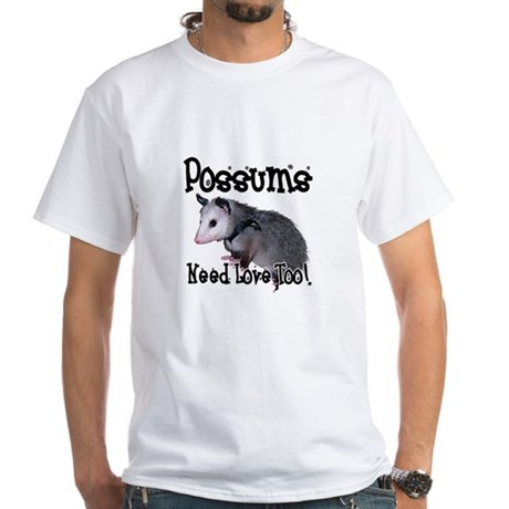 Possums Need Love White T-Shirt