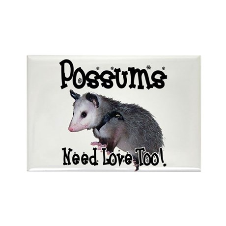 Possums Need Love Rectangle Magnet