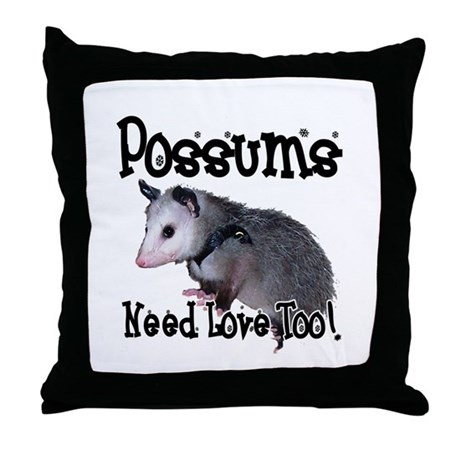 Possums Need Love Throw Pillow