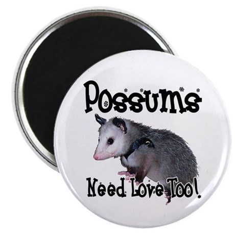 "Possums Need Love 2.25"" Magnet (100 pack)"