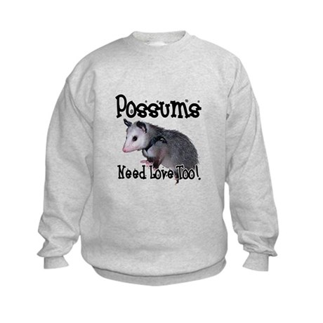 Possums Need Love Kids Sweatshirt