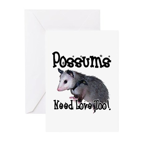 Possums Need Love Greeting Cards (Pk of 20)