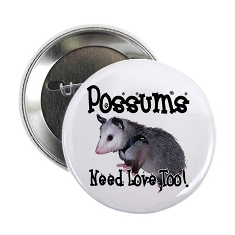 "Possums Need Love 2.25"" Button (10 pack)"