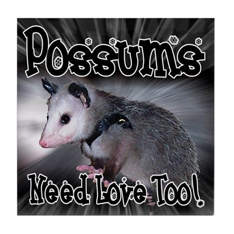 Possums Need Love Tile Coaster