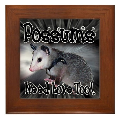 Possums Need Love Framed Tile