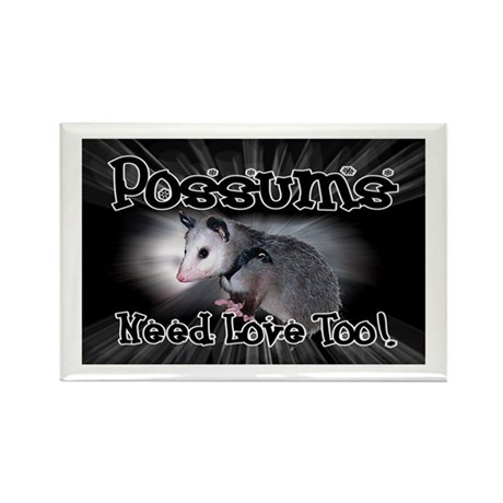 Possums Need Love Rectangle Magnet (100 pack)