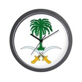 Saudi Arabia Coat of Arms Wall Clock
