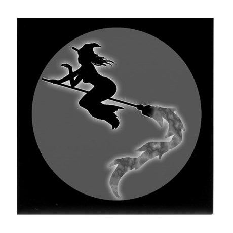 Witch Moon Tile Coaster