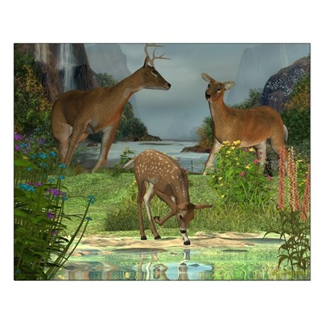 As the Deer 20x16 Poster Print