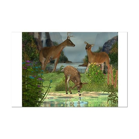 As the Deer 14x11 Poster Print