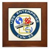 USS Enterprise (CVN 65) Framed Tile