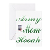 army mom hooah Greeting Cards (Pk of 20)