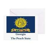 New Georgia State Flag Greeting Card
