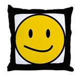 Smirky Face Throw Pillow