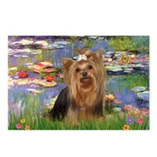 Monet's Lilies & Yorkie #7 Postcards (Package of 8