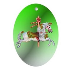 Carousel Horse Oval Ornament