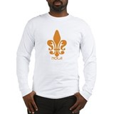 NOLA Orange Fleur Long Sleeve T-Shirt