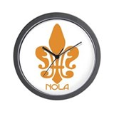 NOLA Orange Fleur Wall Clock