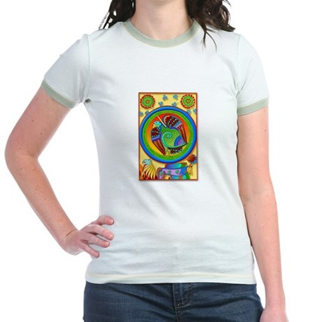 Celtic Art Panel (Front) Jr. Ringer T-shirt