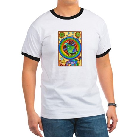 Celtic Art Panel (Front) Ringer T