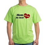 Mom Loves Me Best Green T-Shirt