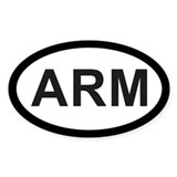 Armenia Oval Decal