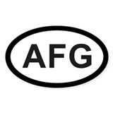 Afganistan Oval Decal