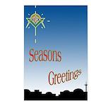 Masonic Seasons Greetings Postcards (Package of 8)