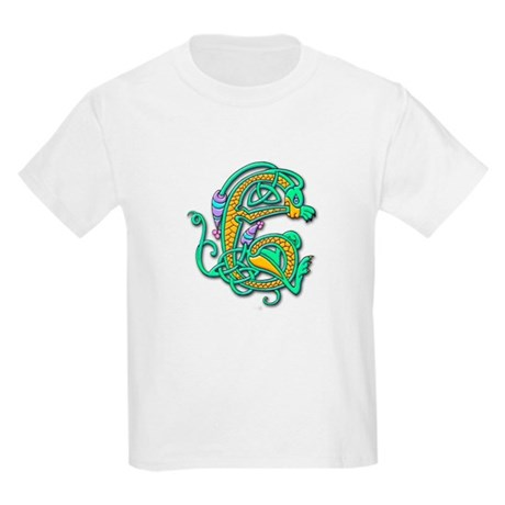 Celtic Aqua Beast (Front) Kids T-Shirt