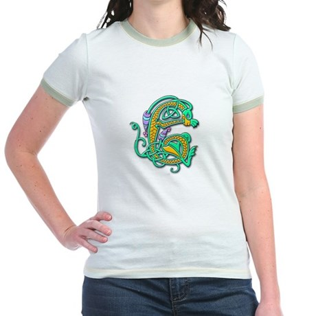 Celtic Aqua Beast Jr. Ringer T-shirt