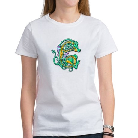Celtic Aqua Beast (Front) Women's T-Shirt