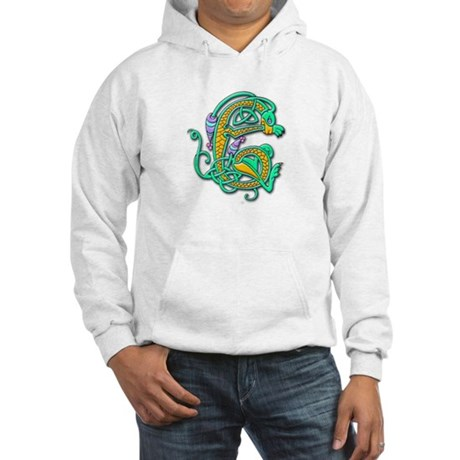 Celtic Aqua Beast (Front) Hooded Sweatshirt