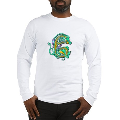 Celtic Aqua Beast (Front) Long Sleeve T-Shirt
