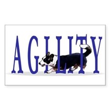 Tri Cardigan Corgi Agility Rectangle Decal