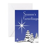 Masonic Star Holiday Greeting Cards (Pk of 20)