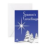 Masonic Star Holiday Greeting Card