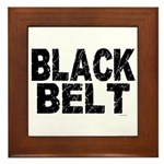 BLACK BELT - WEATHERED 1 Framed Tile