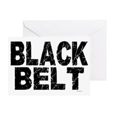 BLACK BELT - WEATHERED 1 Greeting Card