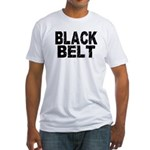 BLACK BELT - WEATHERED 1 Fitted T-Shirt