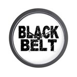 BLACK BELT - WEATHERED 1 Wall Clock