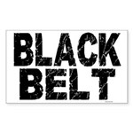 BLACK BELT - WEATHERED 1 Rectangle Sticker