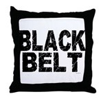 BLACK BELT - WEATHERED 1 Throw Pillow