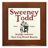Sweeney Todd Framed Tile
