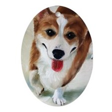 Pembroke Welsh Corgi DOG Oval Ornament