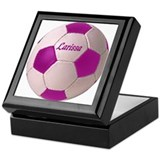 Larissa soccer ball Keepsake Box