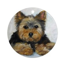 Yorkshire Terrier Yorkie Dog Ornament (Round)